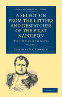 Pdf A Selection from the Letters and Despatches of the First Napoleon