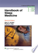 Handbook of Sleep Medicine Book