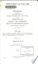 CWIP Policy Act of 1983