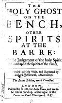 The Holy Ghost on the Bench  Other Spirits at the Barre
