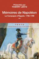 Mémoires de Napoléon (Tome 2) - La Campagne d'Egypte