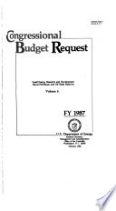 Department of the Interior and Related Agencies Appropriations for 1987: Justification of the budget estimates