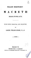 William Shakspeare's Macbeth
