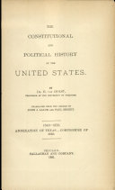 Pdf The Constitutional and Polictical History of the United States