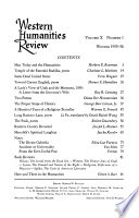 The Western Humanities Review