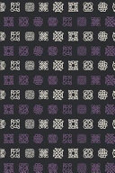 Viking Pattern   Purple White Celtic Signs  Blank Lined Notebook for Norse Mythology Lovers