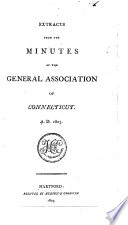 Acts And Proceedings Of The General Association Of Connecticut In The Year