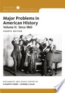 Major Problems in American History Book