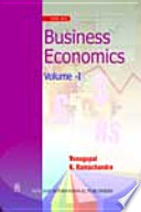 Business Economics Volume   I Book