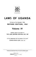 Laws Of Uganda In Force On 31st December 1964