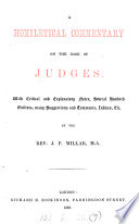 A homiletical commentrary on the Book of Judges