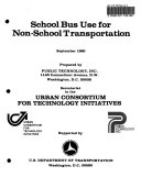 School Bus Use for Non school Transportation