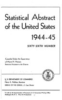 Statistical Abstract Of The United States 1944 45 66th Ed