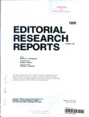 Editorial Research Reports  1990