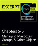 Managing Mailboxes, Groups, & Other Objects