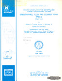 User's Manual for the Generalized Computer Program System, Open-channel Flow and Sedimentation, TABS-2