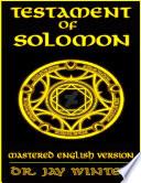 The Testament of Solomon  Mastered English Version