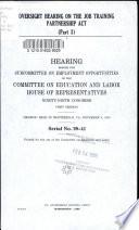 Oversight hearing on the Job Training Partnership Act