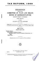 Tax Reform  1969 Book PDF