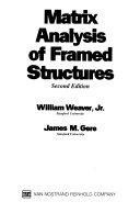 Matrix Analysis of Framed Structures Book