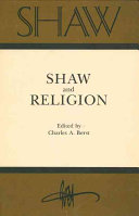 Shaw and Religion Book