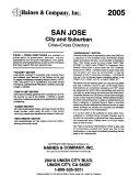 Haines ... Directory, San Jose, California, City and Suburban