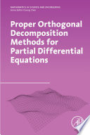 Proper Orthogonal Decomposition Methods for Partial Differential Equations Book