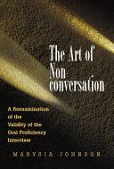 The Art of Nonconversation