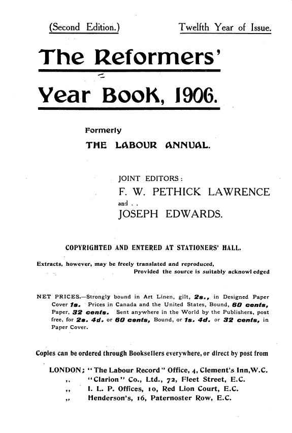 The Labour Annual