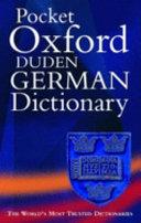 Pocker Oxford Duden German Dictionary 2 ed G E E G