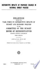 Hearings  Reports and Prints of the House Committee on the Budget
