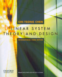 Linear System Theory and Design  Third Edition  International Edition