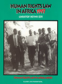 Human Rights Law in Africa, 1997