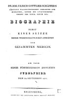 Dr. Joh. Ulrich Gottlieb Schäffer's ... Biographie