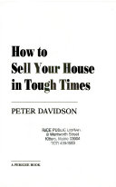 How to Sell Your House in Tough Times