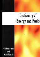 Dictionary of Energy and Fuels