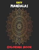 Easy Mandalas Coloring Book