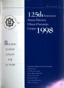 125th Anniversary Alumni Directory Urbana Champaign Campus 1998