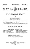 Monthly Bulletin of the State Board of Health of Massachusetts