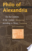 On The Creation Of The Cosmos According To Moses Book PDF