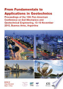 From Fundamentals To Applications In Geotechnics