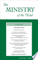 The Ministry Of The Word Vol 24 No 3 The Christian Life 1