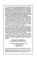 CR  The Centennial Review Book