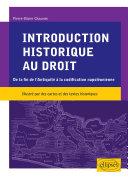 Pdf Introduction historique au droit. De la fin de l'Antiquité à la codification napoléonienne Telecharger