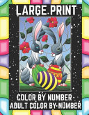 Large Print Color By Number Adult Color By Number