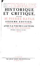 Dictionaire historique et critique