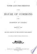 Votes and Proceedings - House of Commons