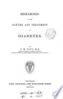 Researches on the Nature and Treatment of Diabetes Book