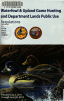 California Waterfowl Upland Game Hunting And Department Lands Public Use Regulations