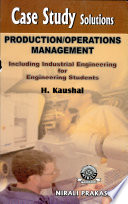 Production Operations Management Book PDF